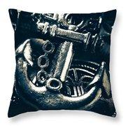 Nautic Blue Throw Pillow