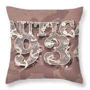 Nautical 1934 Throw Pillow