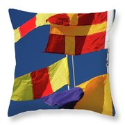 Nautical Banners Throw Pillow