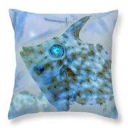 Nautical Beach And Fish #4 Throw Pillow