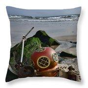 Nautical Collection Found On The Beach Throw Pillow
