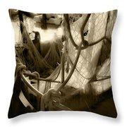 Nautical Dreams In Sepia Throw Pillow