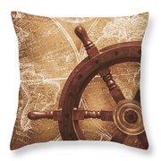Nautical Exploration  Throw Pillow
