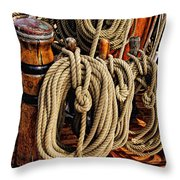 Nautical Knots 16 Throw Pillow by Mark Myhaver