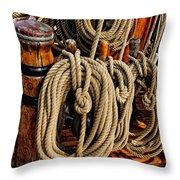 Nautical Knots 17 Oil Throw Pillow