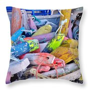Nautical Riot Of Color Throw Pillow