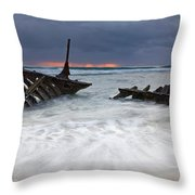 Nautical Skeleton Throw Pillow