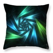 Nautical Spiral Throw Pillow