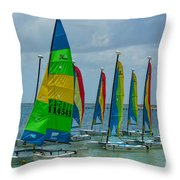 Nautical Travel Throw Pillow