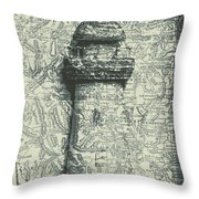 Nautical Way Throw Pillow
