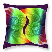 Nautilus Rainbow Throw Pillow
