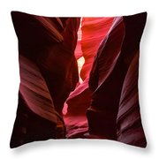 Navaja - Antelope Canyon Slots Throw Pillow