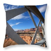 Navajo Bridge Throw Pillow