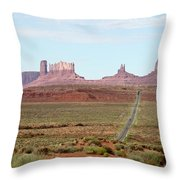 Navajo Flag At Monument Valley Throw Pillow