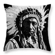 Navajo Indian Chief Throw Pillow