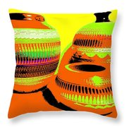 Navajo Pots Throw Pillow
