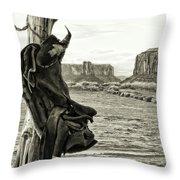 Navajo Saddle Throw Pillow