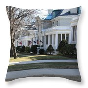 Naval Academy - Captains Row Throw Pillow