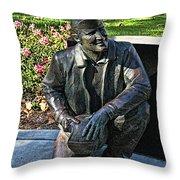 Naval Aviator Sculpture Throw Pillow