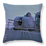 Naval Gun Throw Pillow