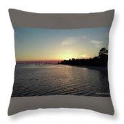 Navarre Florida Sunset Throw Pillow
