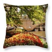 Navarro Street Bridge Throw Pillow by Steven Sparks