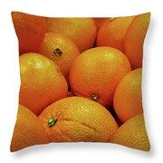Navel Oranges Throw Pillow