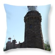 Navesink Twinlights Throw Pillow