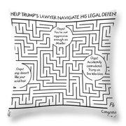 Navigate The Trump Legal Defense Throw Pillow