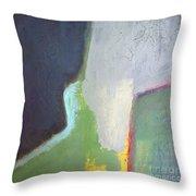 Navy Gray Green Abstract Throw Pillow