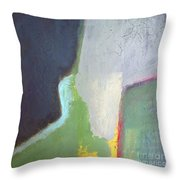 Navy Gray Green Abstract Throw Pillow
