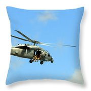 Navy Helicopter Throw Pillow