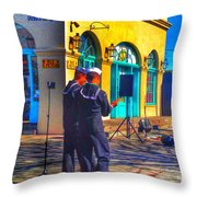 Navy In Blue Throw Pillow