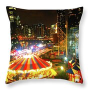 Navy Pier Throw Pillow