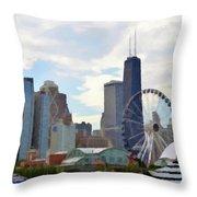 Navy Pier Chicago Illinois Throw Pillow
