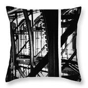 Navy Pier Grand Ballroom Throw Pillow