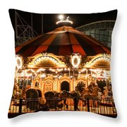 Navy Pier Merry-go-round Chicago Il Throw Pillow