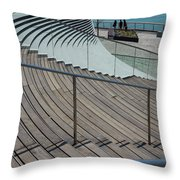 Navy Pier Stairs Throw Pillow