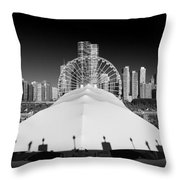 Navy Pier Wheel Throw Pillow