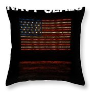 Navy Seals Flag Throw Pillow