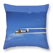 Navy W W I I  T-28 Trainer Throw Pillow