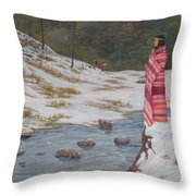 Nawaja  Inat  The  Legend  Of  The  Water Throw Pillow