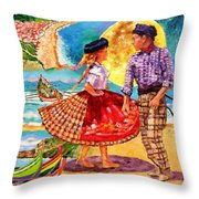 Nazare Portugal Throw Pillow