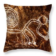 Nazca Monkey Throw Pillow
