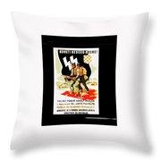 Nazi Allies Anti Soviet Propaganda Poster Circa 1942 Color Added 2016 Throw Pillow