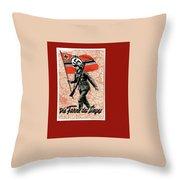 Nazi Propaganda Poster Number 1 Circa 1942 Throw Pillow