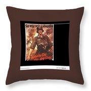 Nazi Propaganda Poster Number 2 Circa 1942 Throw Pillow