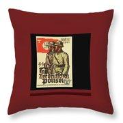 Nazi Propaganda Poster Number 3 Circa 1943 Throw Pillow