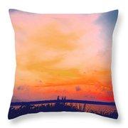 Southcoast Sunset Throw Pillow