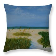 Nc Beach Throw Pillow